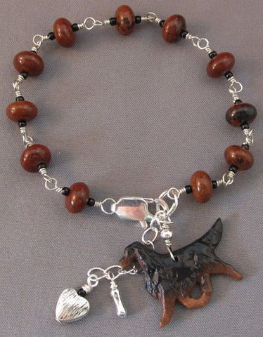 Gordon Setter Bracelet Dog Lover Jewelry