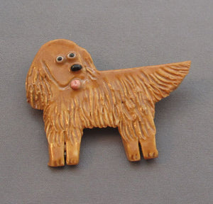 Irish Setter Dog Pin Porcelain Handmade Brooch