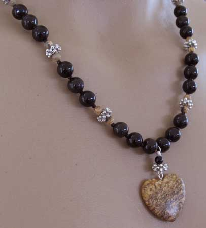 I Love You More Today Jasper Heart Necklace
