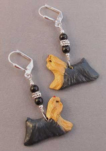 Yorkshire Terrier Dog Breed Jewelry Silver Earrings Handmade