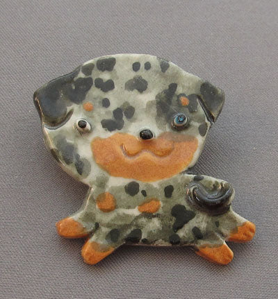Catahoula Leopard Dog Pin Brooch Puppy