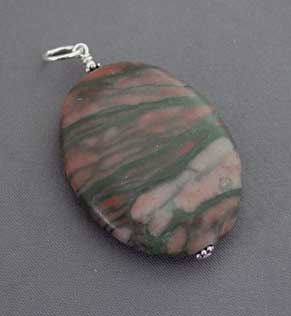 Mysterious Marble Oval Pendant