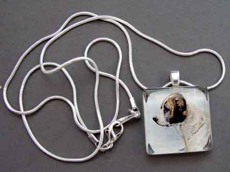 St Bernard Necklace 19th Century Art Dog Breed Jewelry