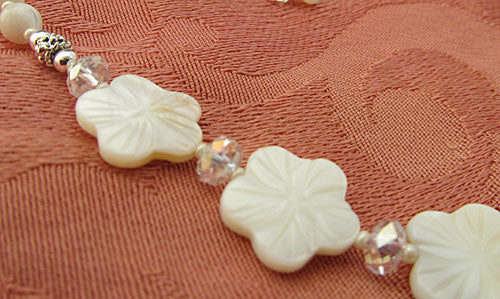 Sleeping Beauty Flower Necklace Wedding White Jewelry