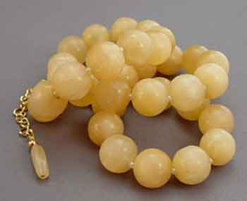 Big Golden Yellow Gemstone Necklace Gold Jewelry