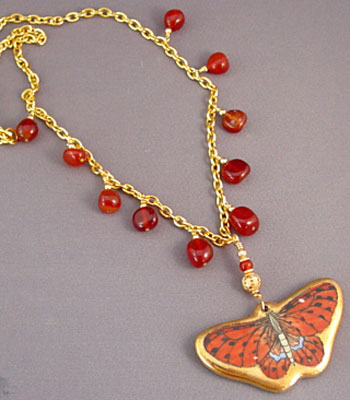 Metamorphosis Butterfly Necklace Vintage Pendant Jewelry