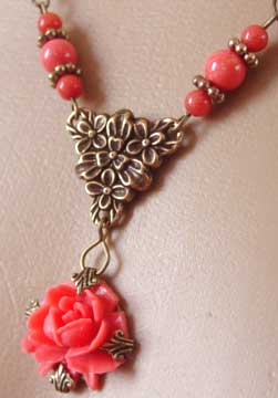 Tender Rose Necklace Victorian Jewelry