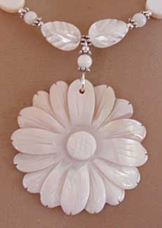 He Loves Me White Daisy Necklace Silver Flower Jewelry