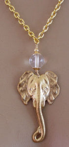Be Wise and Brave Elephant Necklace Symbol Jewelry