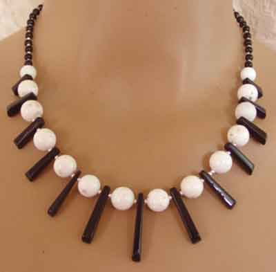 Bold and Beautiful Bib Fan Necklace White Jade Jewelry
