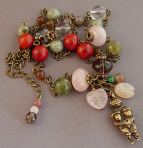 Goddess Gemstone Necklace Fertility Menopause Jewelry