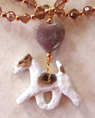 Terrier Dog Lover Jewelry Necklace Coffee Crystal Dog Breed Jewelry