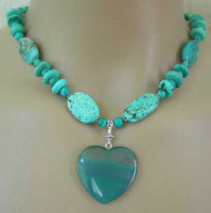 True Love Turquoise Necklace Silver Jewelry