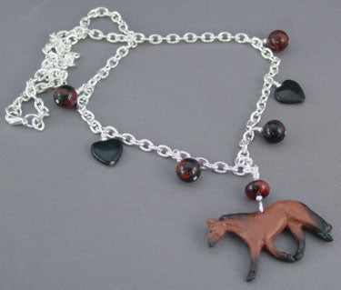 Horse Jewelry Quarterhorse Silver Necklace