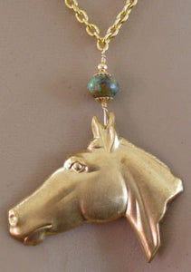 Horse Jewelry Dream Necklace Handcrafted Equestrian Vintage Pendant