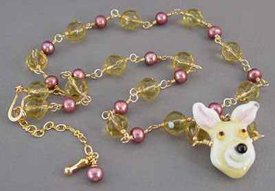 Dog Jewelry Chihuahua or Mixed Breed Necklace Pearls Crystals