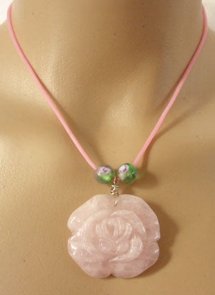 Pink Rose Choker Necklace Romantic Flower Jewelry