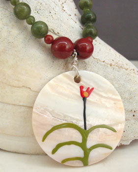 Bohemian Wildflower Necklace Handcrafted Jewelry