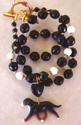 Mountain Dog Jewelry Necklace Classic Black White Handmade