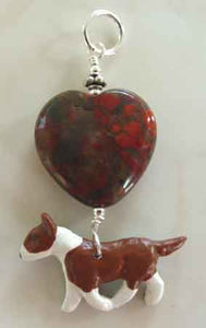 Bull Terrier Dog Jewelry Pendant Handcrafted Heart Dog Breed Jewelry