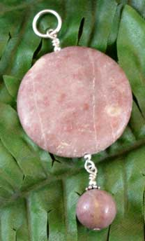 Perfect Pink Gemstone Pendant Lepidolite Gemstone