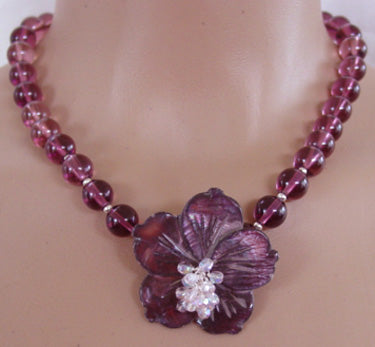 Intoxication Flower Necklace Passionate Purple Romantic Jewelry