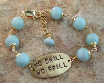 No Drill No Oil Spill Amazonite Bracelet Statement Jewelry