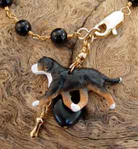 Great Swiss Mountain Dog Breed Jewelry Gold Swissy Bracelet