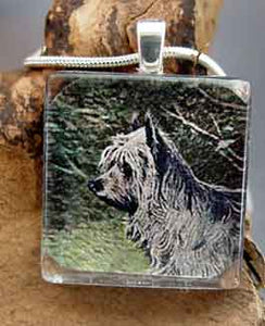 Cairn Terrier Vintage Art Necklace Dog Breed Jewelry