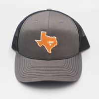 University of Texas / State of Texas 1883 - Charcoal & Black - Curved Bill