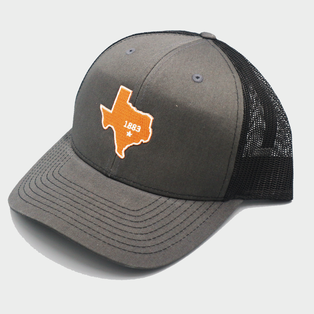 State of Texas 1883 - Charcoal & Black - Curved Bill