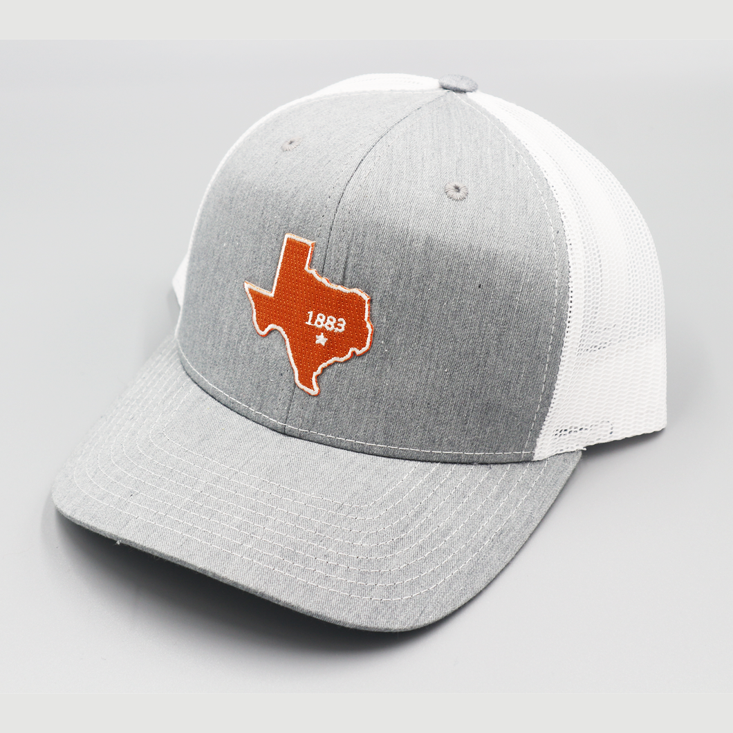 State of Texas 1883 - Light Grey & White - Curved Bill