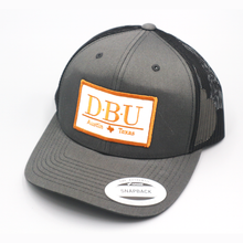 Load image into Gallery viewer, Defensive Back University - Charcoal/Black - Mesh Snapback