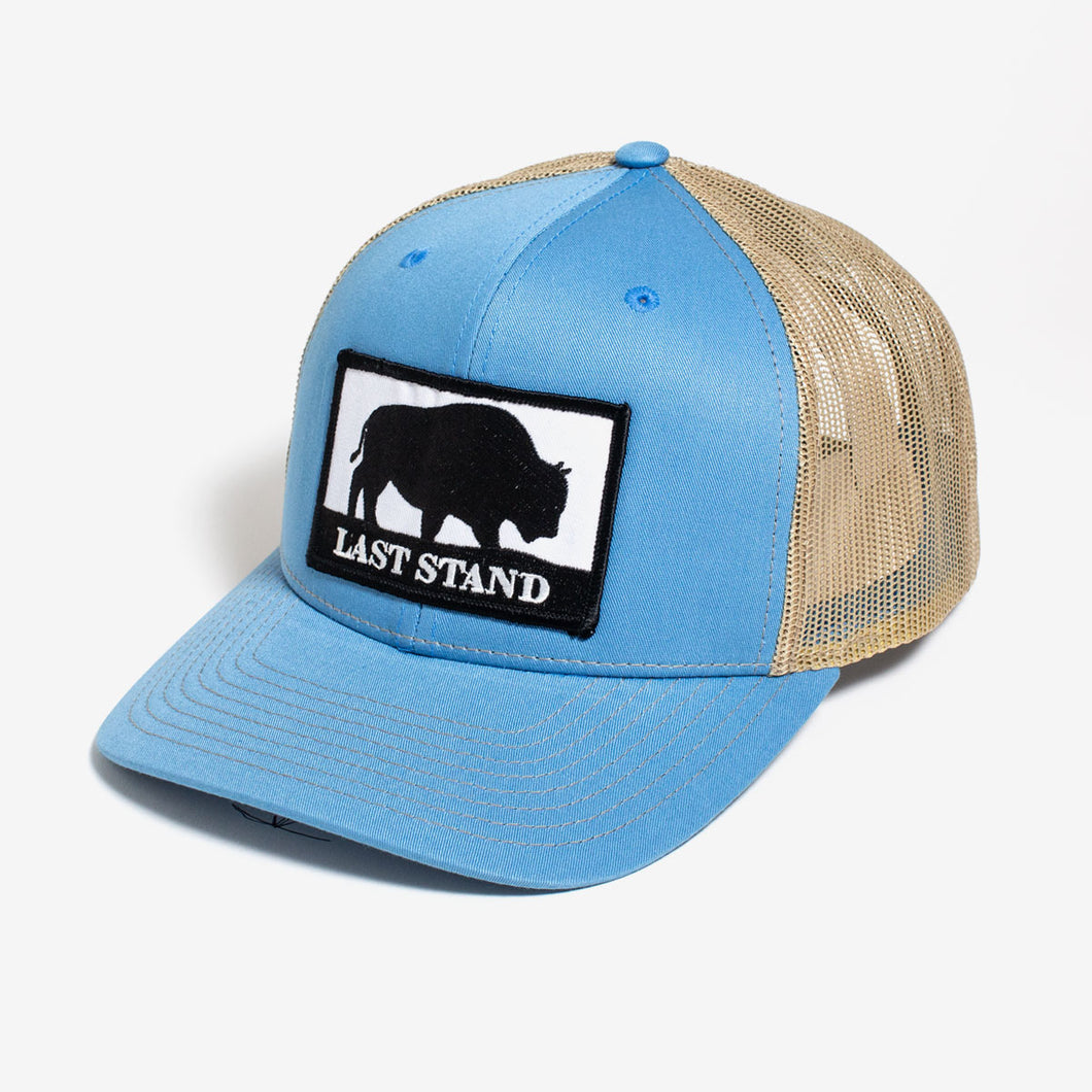 Last Stand / Carolina Blue & Tan / Curved Bill