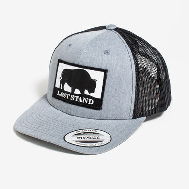 Last Stand / Light Grey & Black / Curved Bill