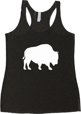 Last Stand Bison / Womens Racerback Tank / Multiple Colors