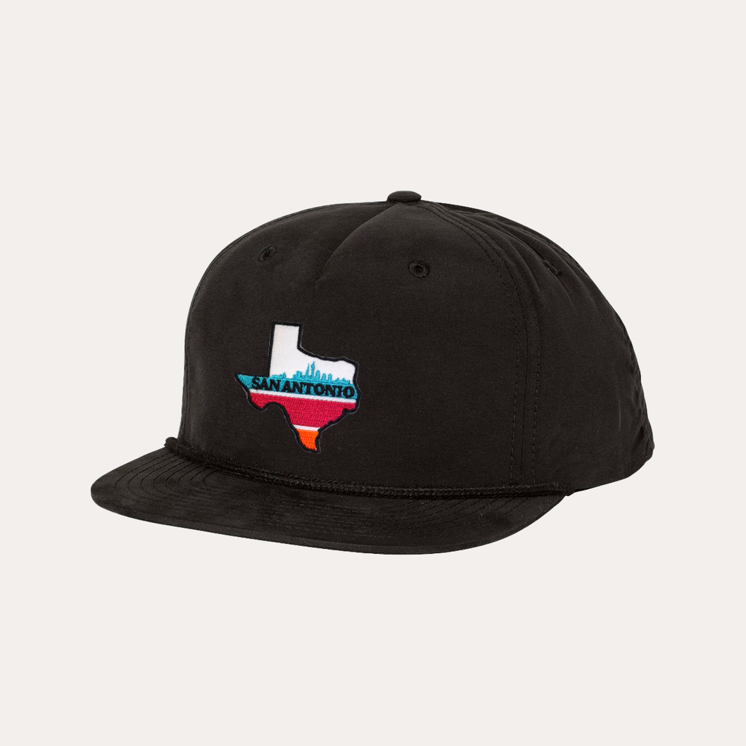 The Fan Series / San Antonio / Black Rope Hat / Flatbill
