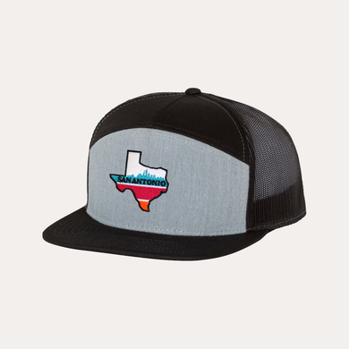 Copy of The Fan Series / San Antonio / Heather Grey - Black  / Flatbill