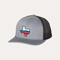 The Fan Series / San Antonio / Heather Grey - Black - Curved Bill