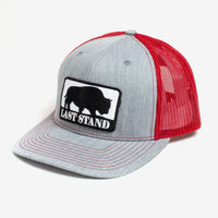 Last Stand /  Light Grey & Red / Curved Bill