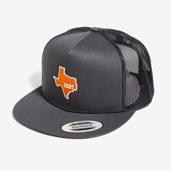 University of Texas / State of Texas / Charcoal & Black / Flat Bill