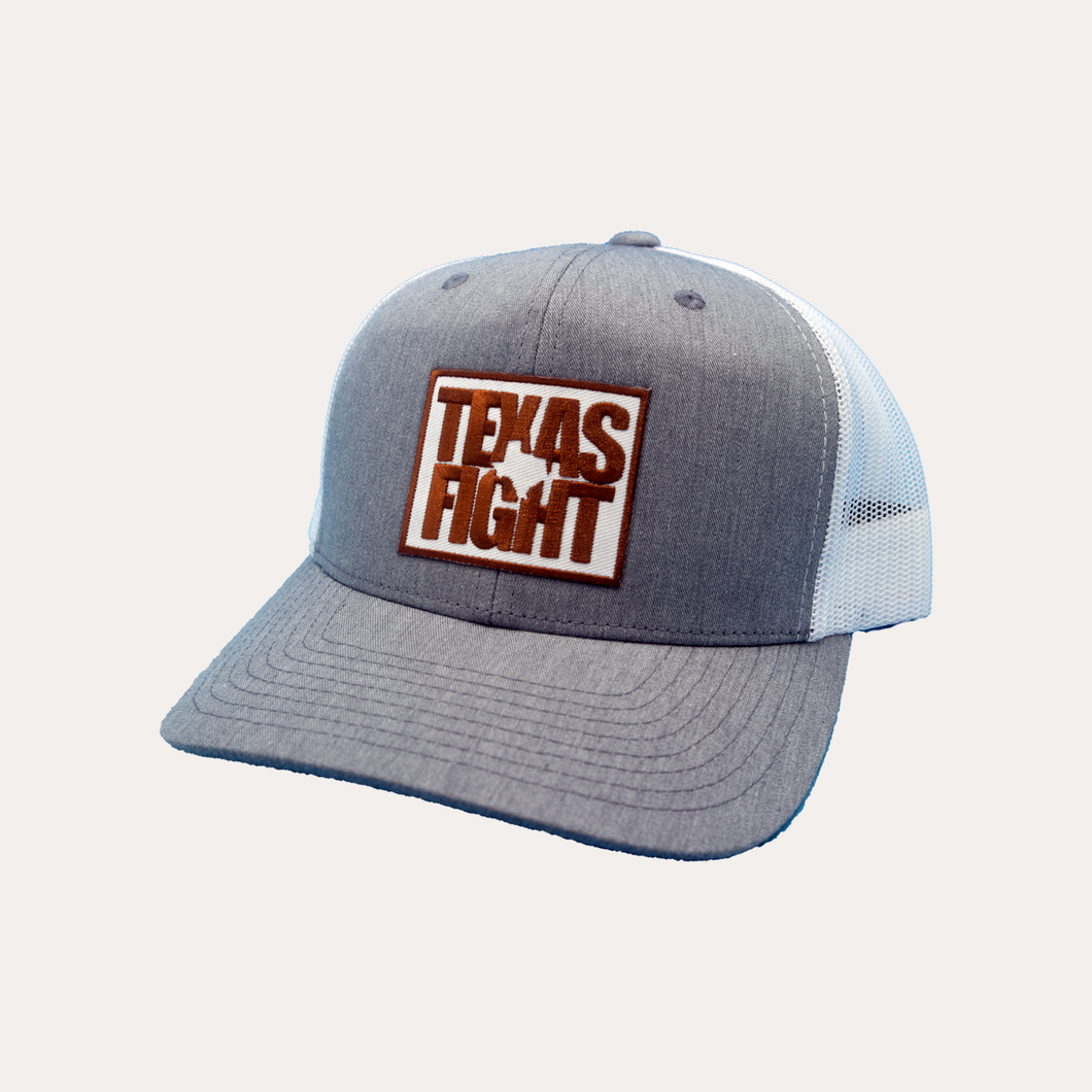 Texas Fight / Heather Grey - White / Curved Bill