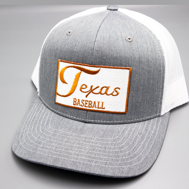 Texas / Baseball / Heather Grey - White / Curved Bill