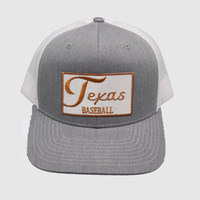 University of Texas / Kids Texas / Baseball / Heather Grey - White / Curved Bill