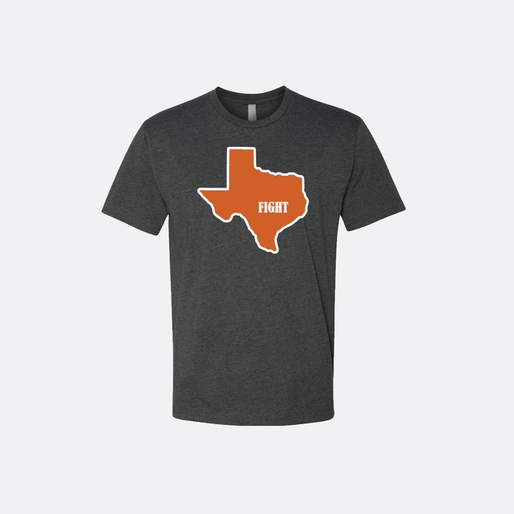 Texas Fight T-Shirt - Short Sleeve - Charcoal