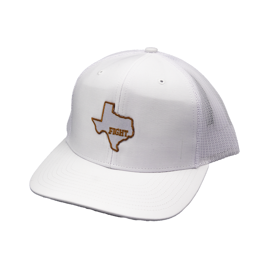 State of Texas / Icy White / White & White / Curved Bill