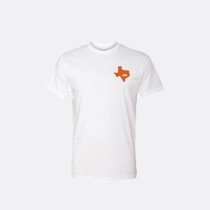 Small Texas Fight T-Shirt / Short Sleeve / White