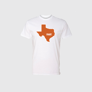 Texas Fight T-Shirt - Short Sleeve - White
