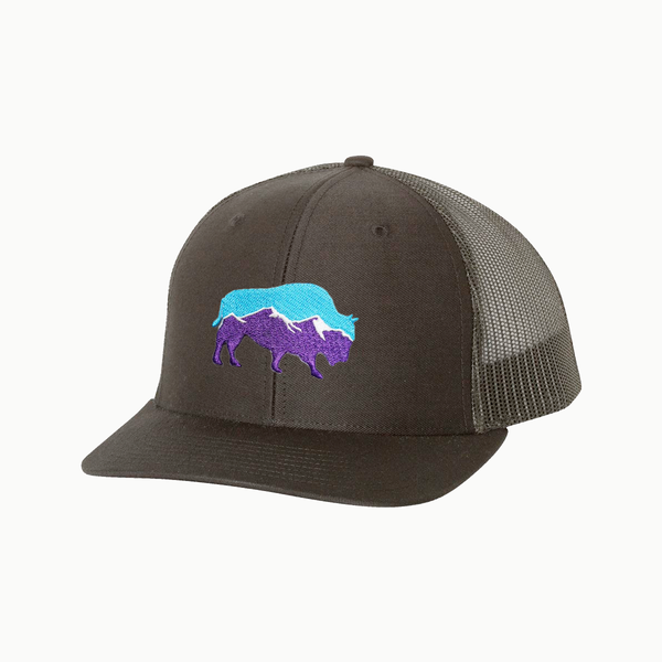 Last Stand Mountain Bison / Black - Black / Curved Bill