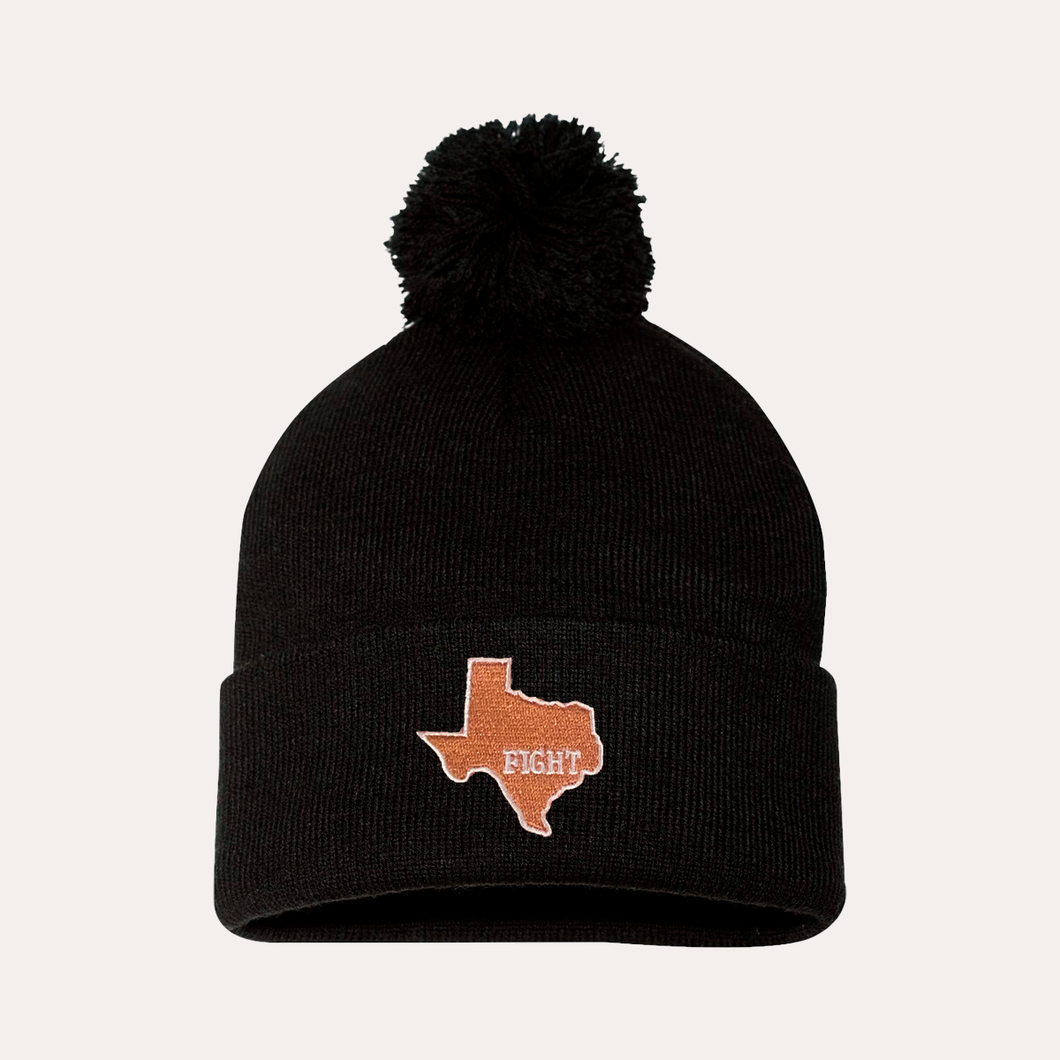 State of Texas / Pom Beanie / Black